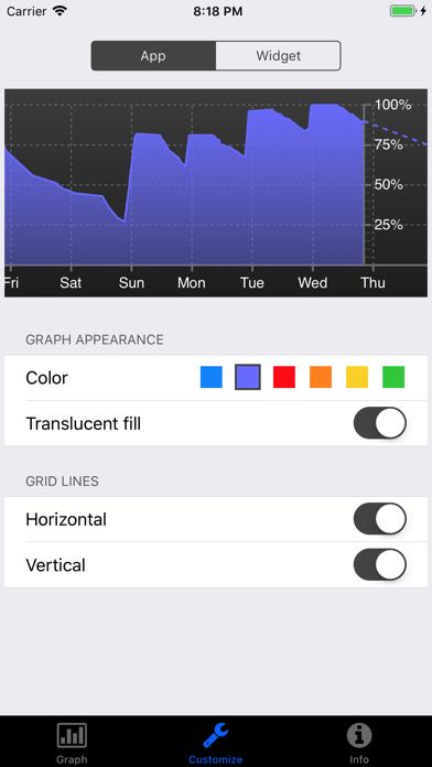 Battery Graph Widgetのおすすめ画像4