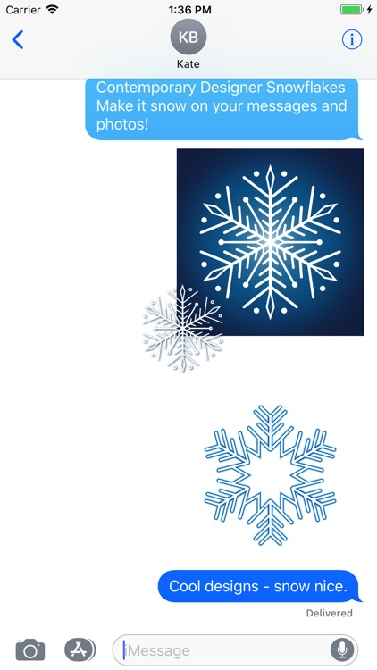 Snowflakes Sticker Pack