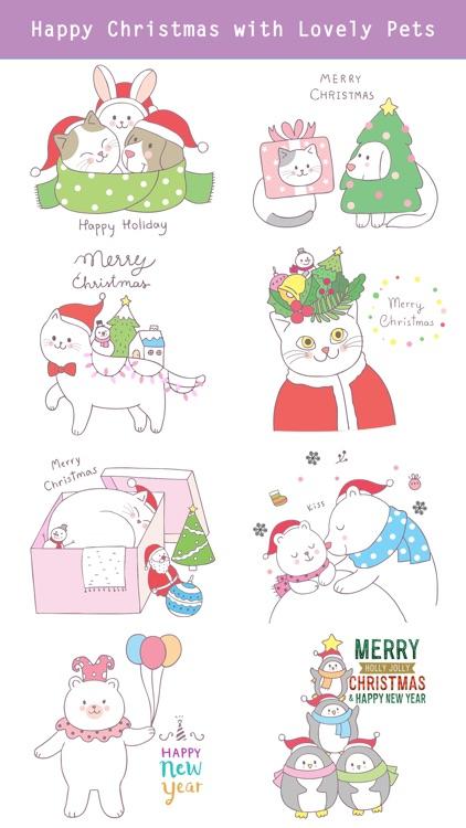 Cute Hand Drawn Christmas Pack screenshot-3