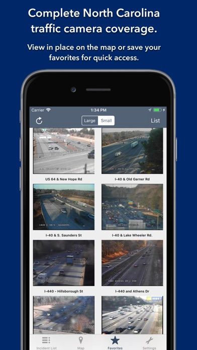 Screenshot for North Carolina Roads Traffic in Belgium App Store