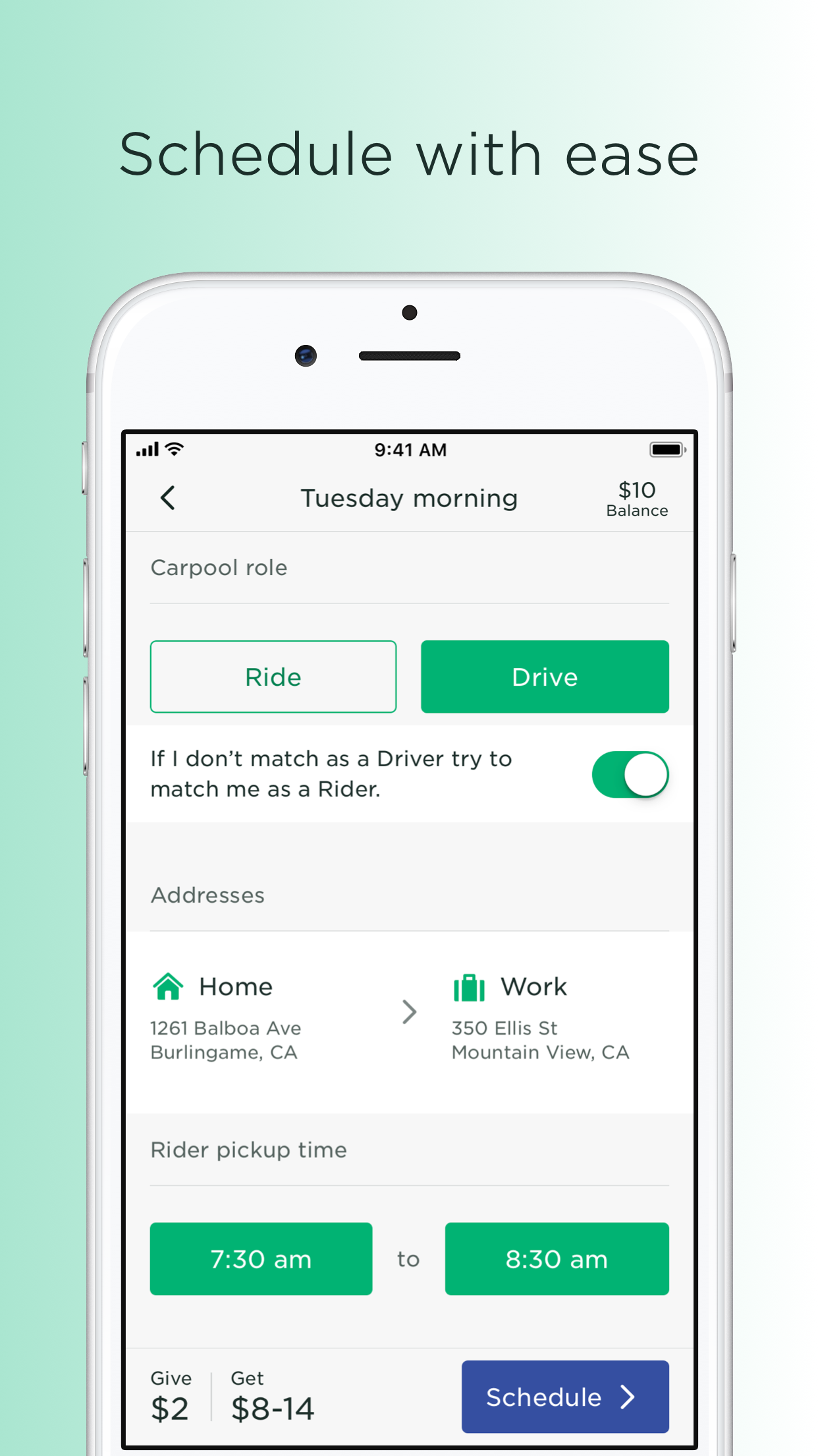 Scoop - Carpool w/ Co-Workers Screenshot
