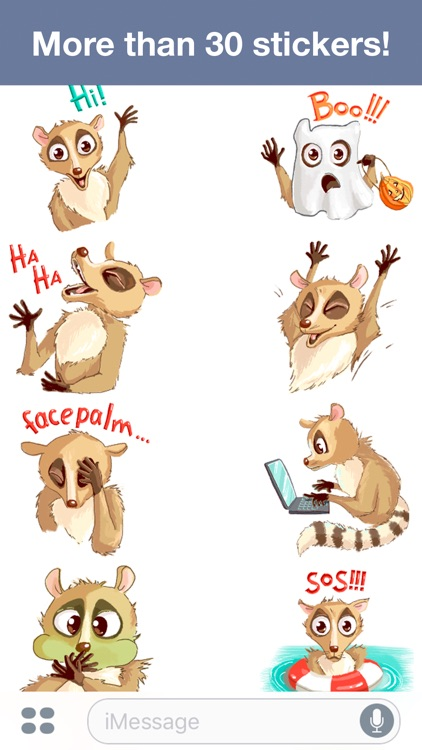 Lemur - Cute stickers screenshot-1