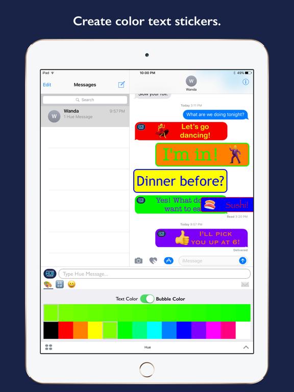 Hue - Color Text Sticker Maker | App Price Drops