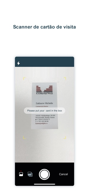 scanner de cartão de visita pr Screenshot
