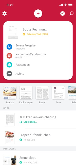 Scanbot - Scanner App & Fax Screenshot