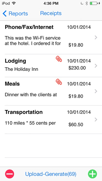Expense Report for iPhone screenshot-4
