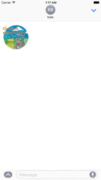 Watercolor Golf Sticker