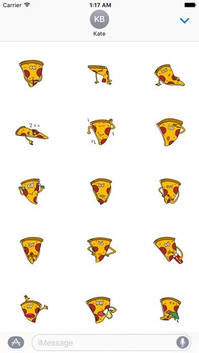 Cute Pizza - PizzaMoji Sticker screenshot 2