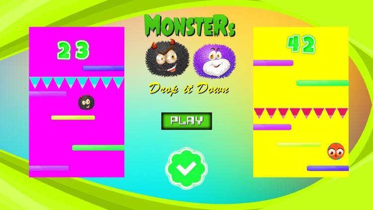 Monsters Game Drop it Down screenshot-3