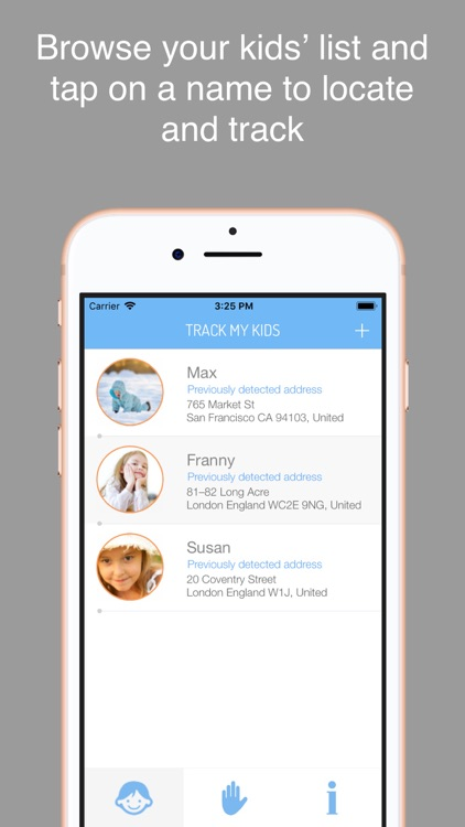 Track My Kid  - GPS localizer screenshot-0