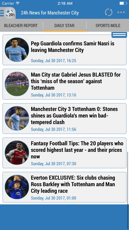 24h News for Manchester City screenshot-0