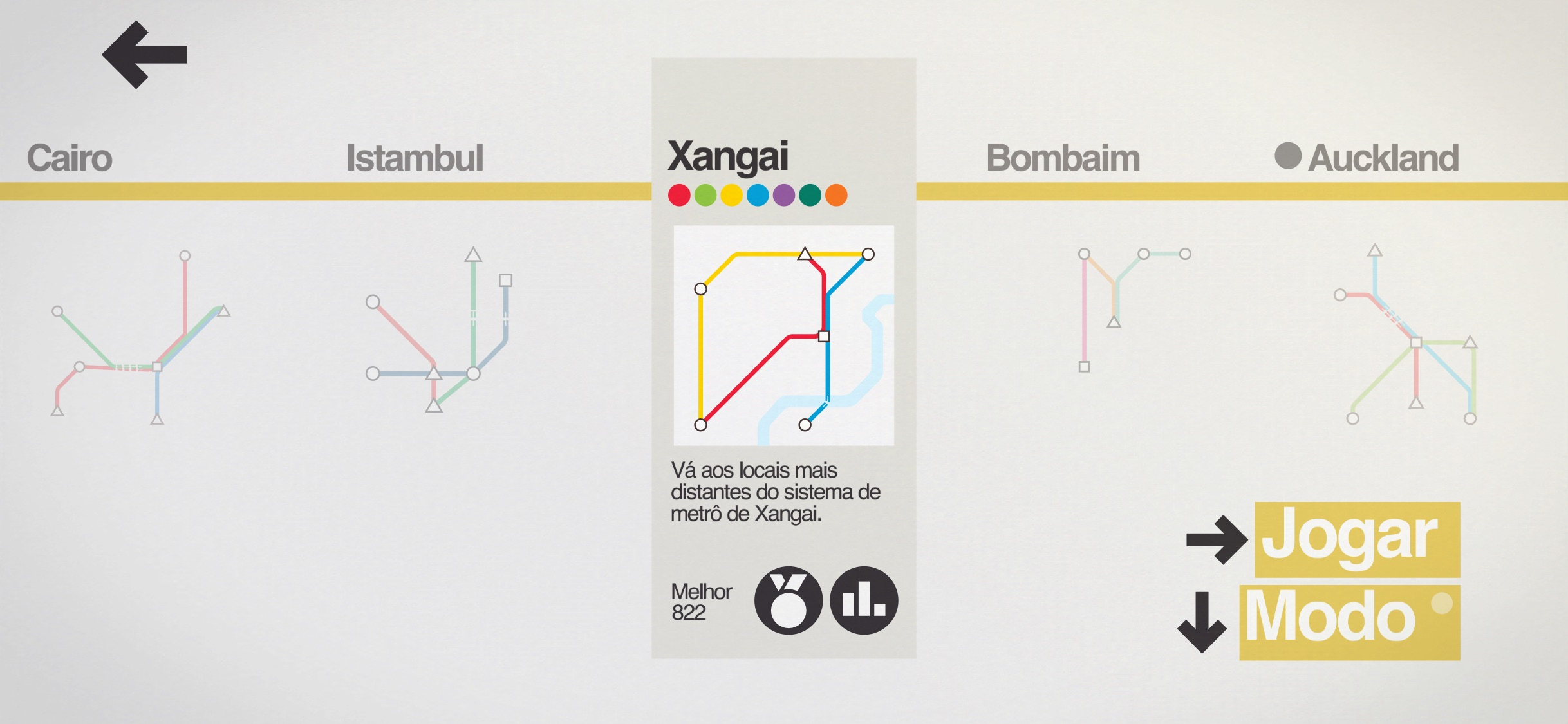 Screenshot do app Mini Metro