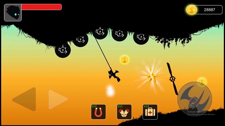 Stickman swing : Rope Swing screenshot-3