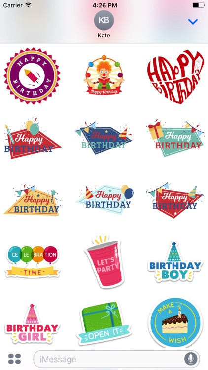 Happy Birthday's - Stickers Pack
