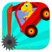 129.恐龙挖掘机 - 赛车和汽车儿童游戏总动员