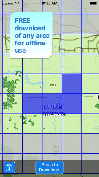 Aqua Map North Dakota Lakes HD screenshot-4
