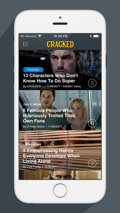 The Cracked Reader screenshot one