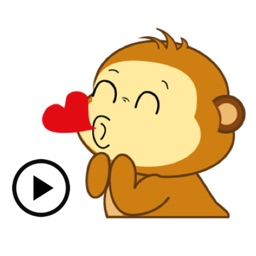 Animated Lovely Monkey Sticker