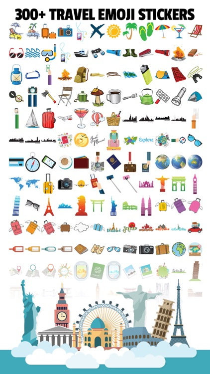 TravelEmoji - Vacation Sticker