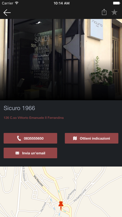 Screenshot of Sicuro 1966 Outlet3