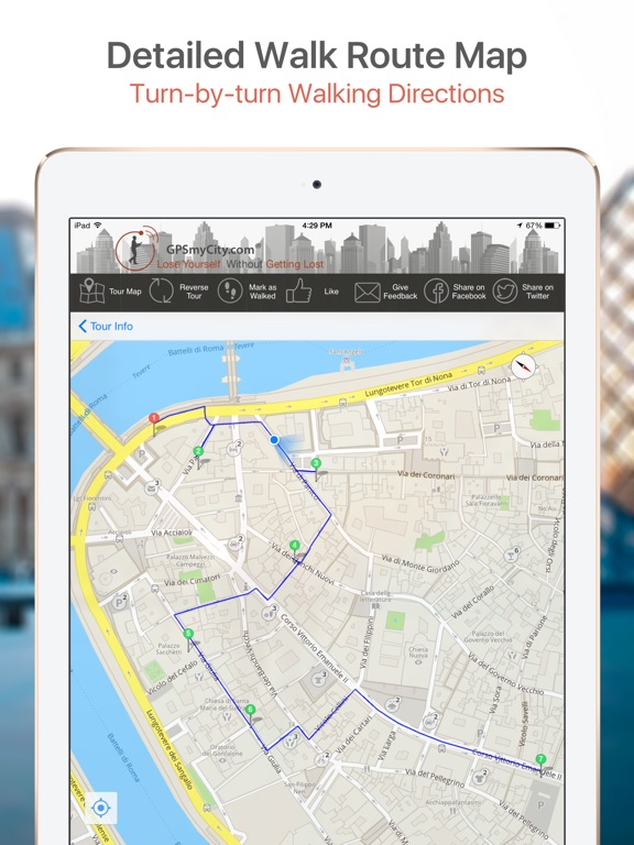 Jakarta Map and Walks iPad