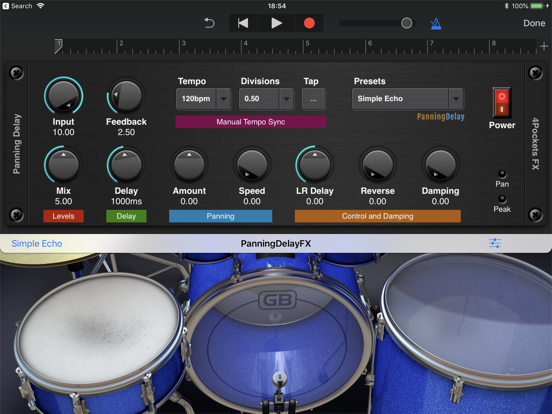 Panning Delay AUv3 Plugin screenshot 5