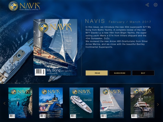 Navis Luxury Yachts Magazine Скриншоты7