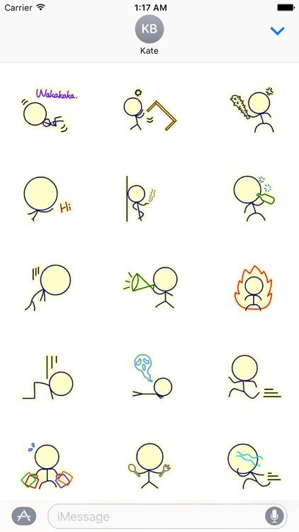 Life of Stick Man Stickers