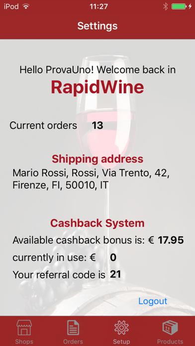 RapidWine screenshot two