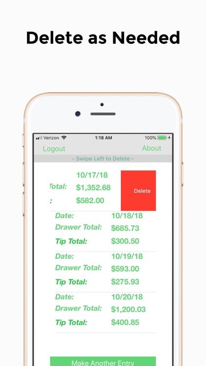 iTip: Tip Tracker App screenshot-4