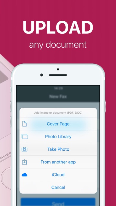 FAX app PRO: send fax from iPhone on the go Screenshot 3