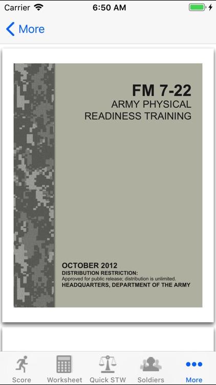 Army Fitness APFT Calculator screenshot-3