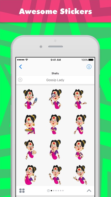 Gossip Lady stickers by Shallu