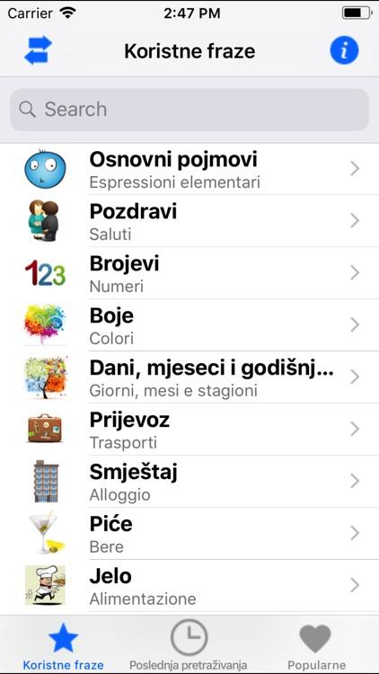 Frasi utili italiano-croato screenshot-3