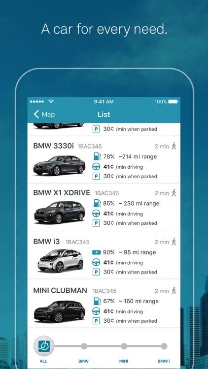 ReachNow Car Sharing by BMW screenshot-3
