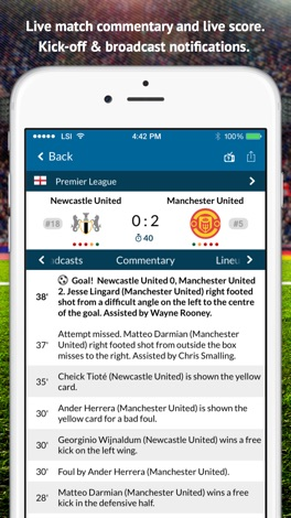 Live Soccer TV: Scores & Stats screenshot for iPhone