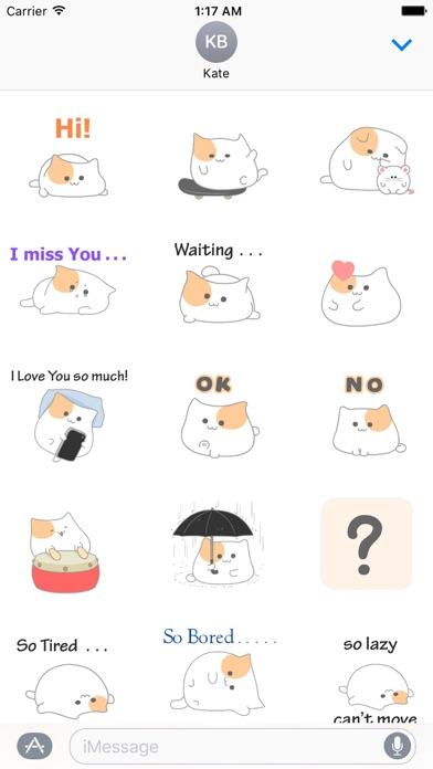 Animated So Cute Cat Sticker screenshot 1