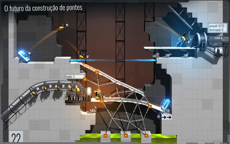 Screenshot do app Bridge Constructor Portal