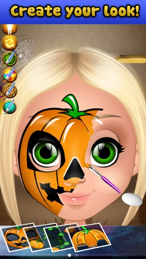 halloween face paint salon on the app store - Halloween Pictures To Paint