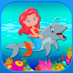 The Little Mermaid And Dolphin