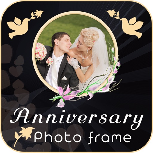 Anniversary Square Photo Frame