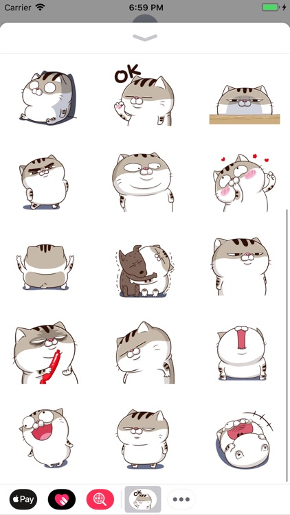 Tabby Cat Cute Stickers Pack