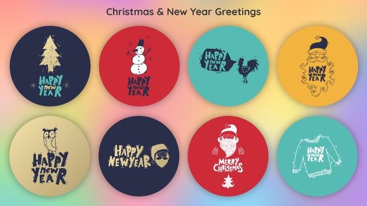 New Year Christmas Greetings
