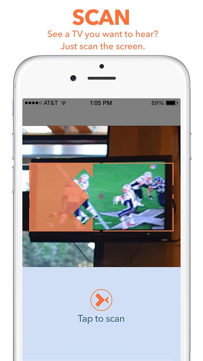 Tunity: Hear any muted TV Screenshot