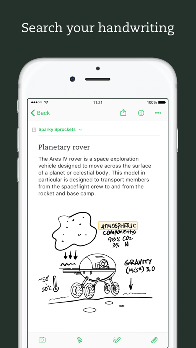 Screenshot 4 for Evernote's iPhone app'