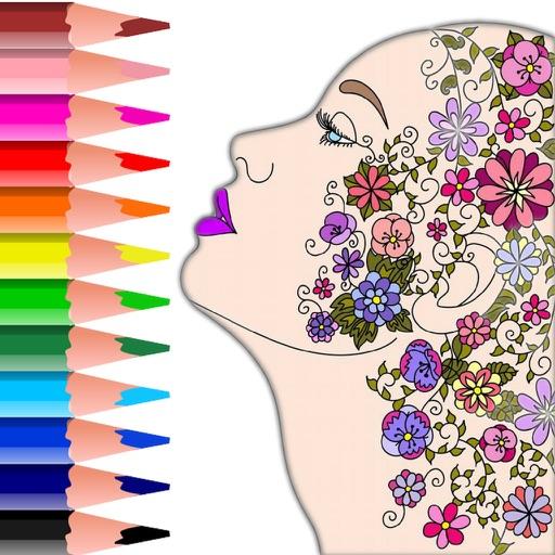 Colorish coloring book mandala