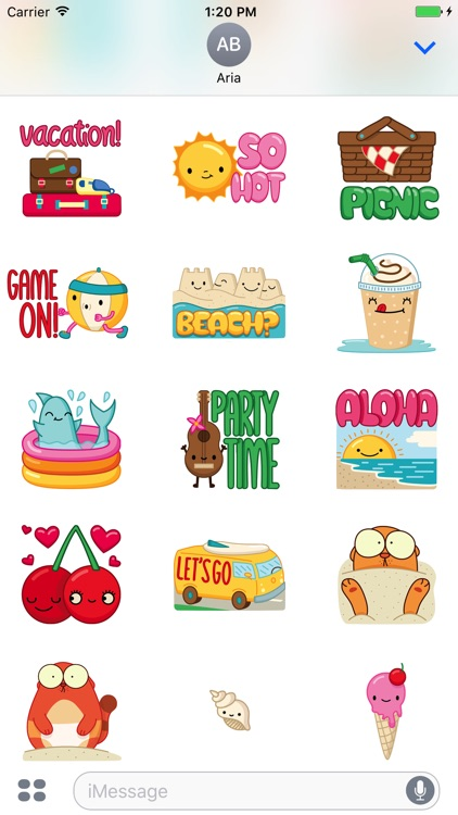 Animated Black Cat, Hamster, Summer Things Sticker screenshot-4