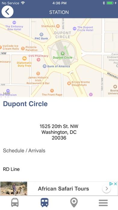 DC Metro & Bus Navigator Map
