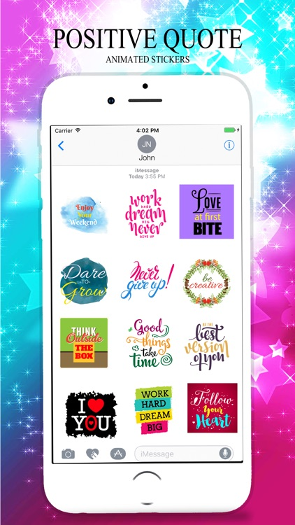 Animated POSITIVE & MOTIVATIONAL Quotes Stickers