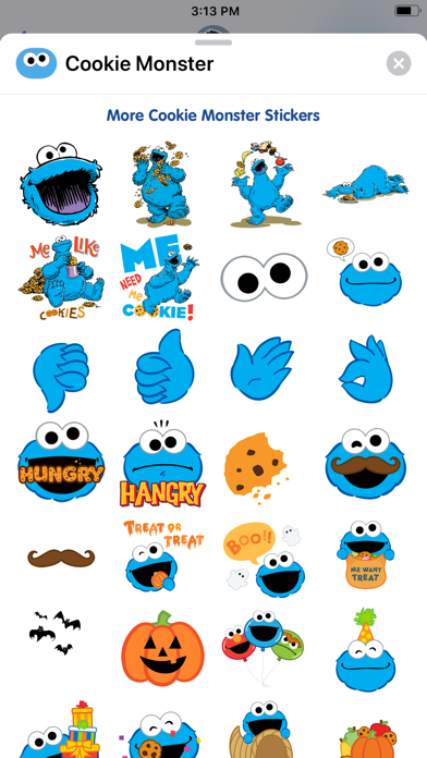 Cookie Monster Stickers screenshot two